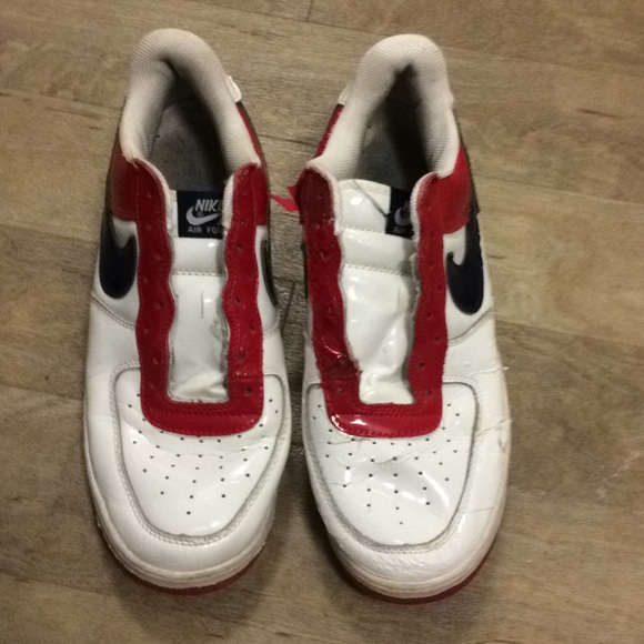 Red white blue nike Air Force 1